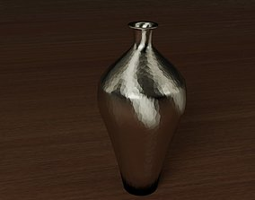 Metal Vase Platinum 3D asset