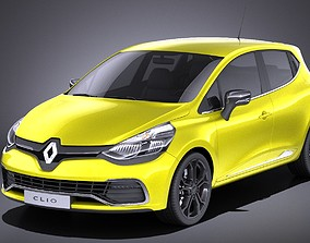 Renault Clio 2015 RS 200 VRAY 3D