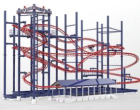 3D model Soarin Eagle Roller Coaster