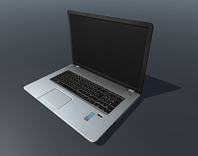 HP Notebook Low poly 3D model animated
