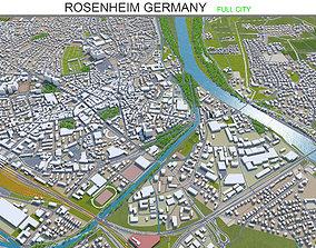 3D model Rosenheim Germany 20km