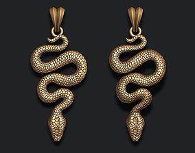 venom 3D printable model snake pendant