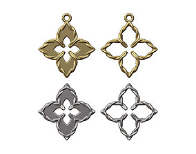 3D print model Braided wire flower charms and pendants