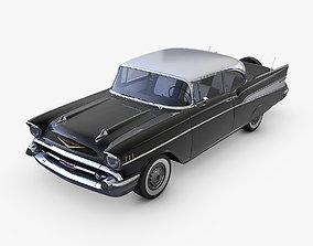 3D model Chevrolet Bel Air 1957 policecar