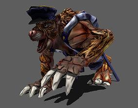 3D asset Detective Wolf