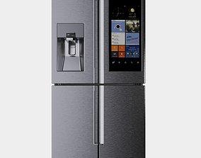 3D model Refrigerator Sams 4-Door Flex