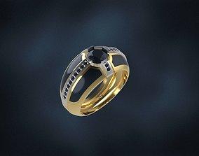 3D print model enamel man ring