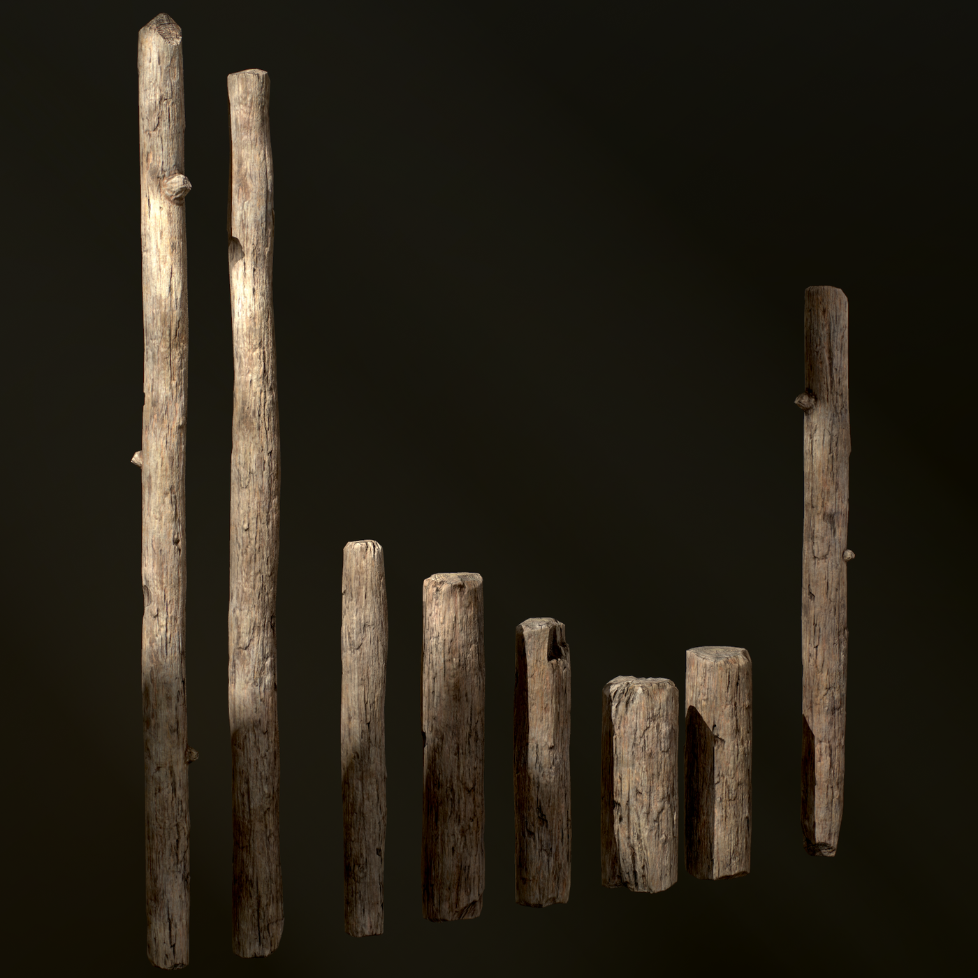 Old Wooden Poles