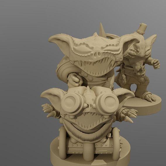 Goblin Wrecking Crew - Printable Miniature Set