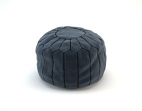 3D model Morocco Leather and Cloth Pouf