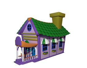 3D model Asset - Cartoons - Background - House