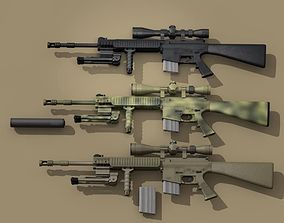 3D Mk12 sniper rifle