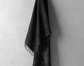 modern 3D model Hanging Black Towel