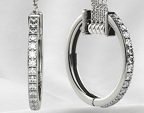 diamond 3D printable model Fashion Gold Earrings