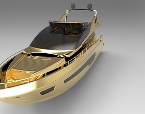 luxury Yatch 3D model