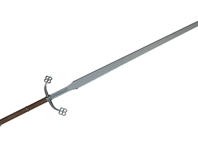 3D model Common Medieval Two-Handed Swords