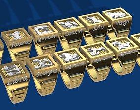 3D print model Zodiac COMPLETE SET of 12 ring