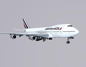 3D asset Boeing 747-200 Air France