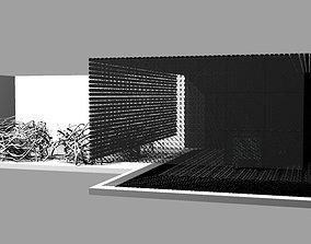 3D House design bird-house