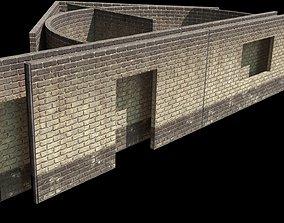 brick wall 3D asset game-ready