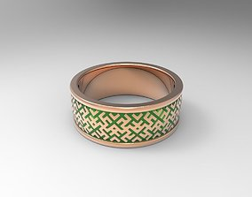 3D print model Simple ornamented wedding band platinum