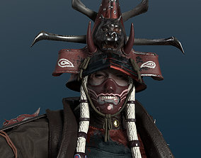 Undead Samurai Rigged 3D model game-ready