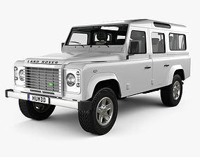 Land Rover Defender 110 Station Wagon with HQ interior 3D