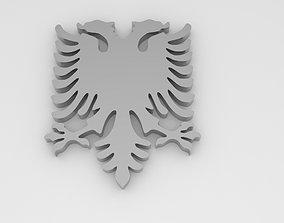 albania eagle for pendant or part 3D print model