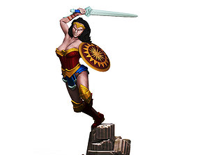 3D print model Wonder Woman V2 - 35mm scale