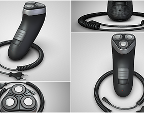 3D model Electric Shaver With Charging Cable