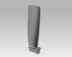 Turbine Blade 3D print model