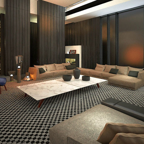 Concept living room Visualization Houston, Texas