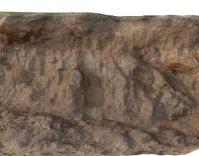 Eroding Beach Cliff 01 3D model