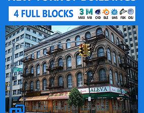 3D asset NYC - 4 Blocks - 37 Buildings V2