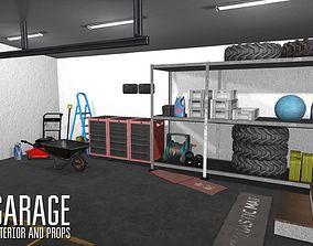 Garage - interior and props 3D model