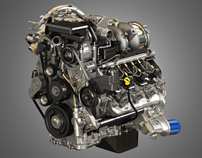 Duramax Engine 3D model