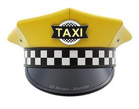 3D Yellow Taxi Cap