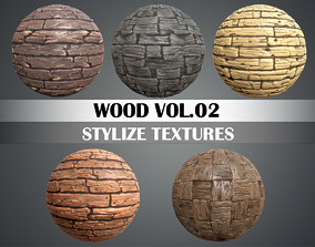 Stylized Wood Vol 02 - Hand Painted Texture 3D model