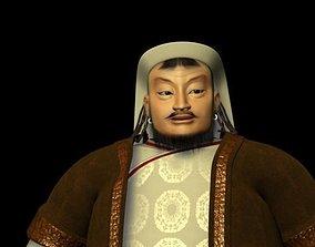 3D asset Genghis Khan