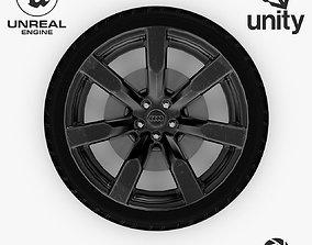 Wheel Steel-Chrome Dark Alloy Rim Audi 19 inch 3D model 2