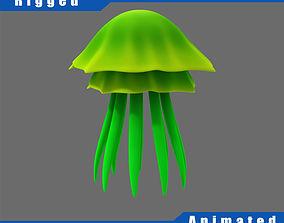 Cartoon Jellyfish 3D