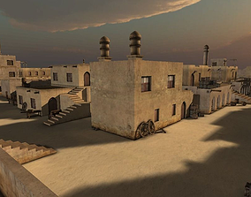 Arabic city streets 3D model