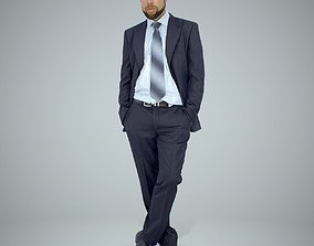 Standing Business Man with Beard BMan0306-HD2-O01P02-S 3D