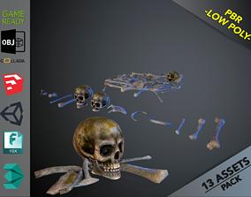 3D model Skulls1 Infected Alien Bones