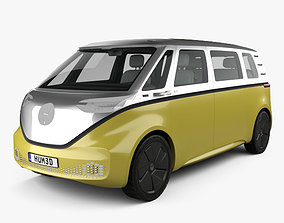 3D Volkswagen ID Buzz with HQ interior 2017