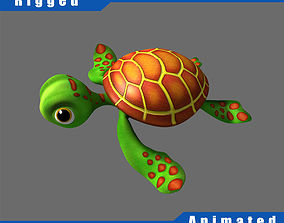 3D Cartoon Turtle Rigged