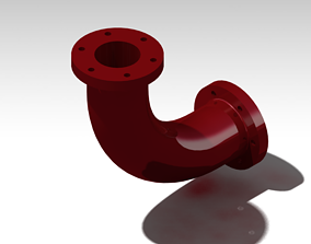 Double Flange pipe 3D print model