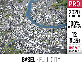 3D asset Basel - city and surroundings