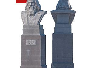 3D asset Sculpture Mendeleev 201