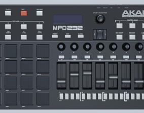 3D Akai Professional MPD232 MIDI Controller